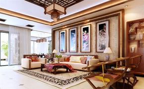 中式三室一厅一卫装修设计图