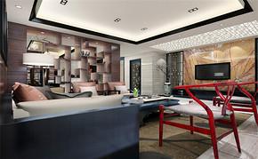 三室一厅一卫中式风格装修效果图