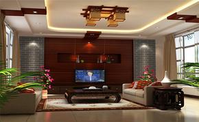 三室一厅一卫中式风格装修设计图