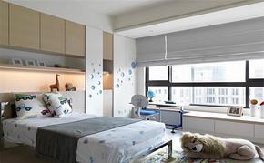 现代三室一厅一卫一厨儿童房装修图