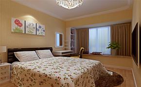 三室一厅一卫田园风格装修设计图