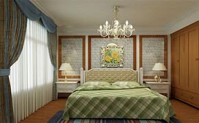 田园四室一厅房屋卧室装修图