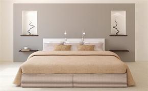 三室一厅一卫简约卧室装修设计图