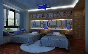 三室一厅一卫现代儿童房装修设计图