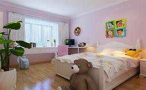 现代三室一厅一卫儿童房装修设计图