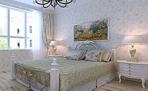 三室一厅一卫田园风格装修效果图