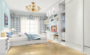 韩式风格四室一厅房屋设计图