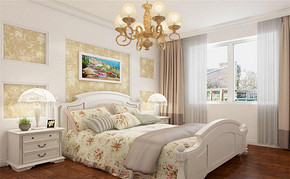 韩式四室一厅房屋卧室设计图
