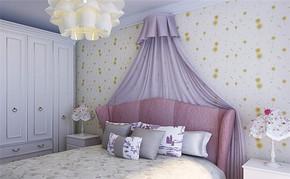 田园四室一厅房型卧室设计图片