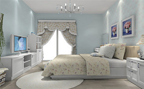 四室一厅房屋韩式风格设计图