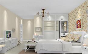 韩式风格卧室室内房屋装修效果图
