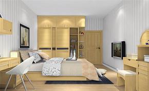 48平米田园风格单身公寓装修效果图