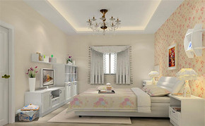 田园风格卧室设计案例展示图