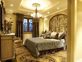 欧式风格女生房间床布置效果图