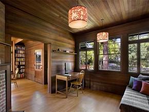 日式复古新房书房装修图片
