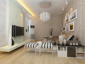 一居室现代欧式风格客厅装修图