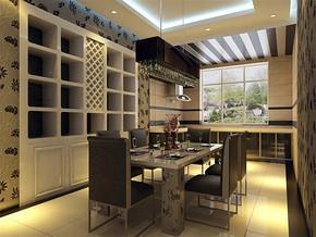 现代日式餐厅吊顶设计片