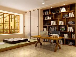 古典日式时尚小书房设计