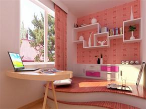 日式温馨书房飘窗设计