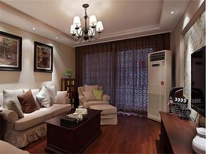 日式客厅吊顶灯光效果图