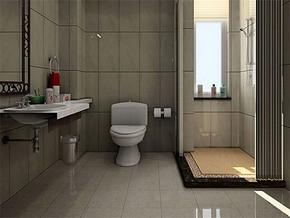 现代日式卫生间装修效果图