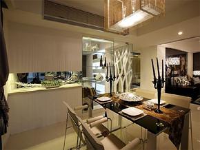 日式开放式餐厅厨房装修效果图