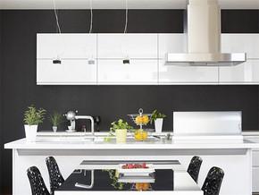 日式白色系厨房整体橱柜颜色