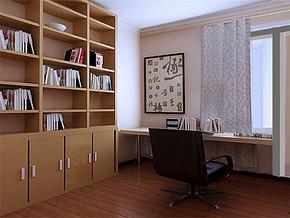 日式复古书房装修案例