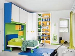 日式地中海儿童房间布置平面图