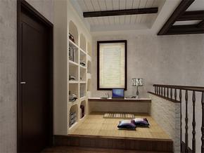 日式书房简约装修效果图