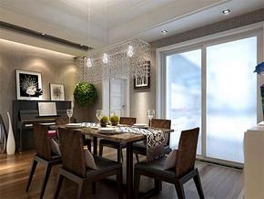 日式家装餐厅吊顶设计效果图