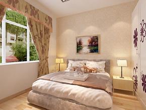 一居室现代欧式风格卧室装修图