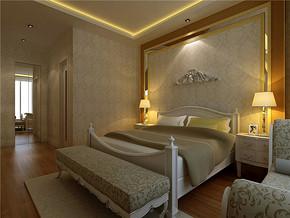 美式乡村一室卧室装修实景图
