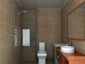 简约日式楼房卫生间装修图片