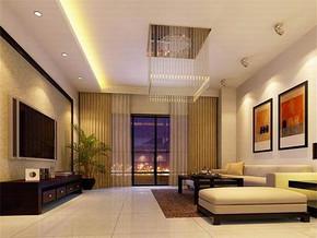 日式现代客厅电视墙效果图