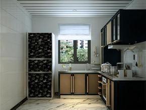 日式家庭室内厨房装修效果图