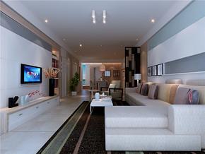淡雅田园一室客厅装修效果图