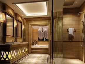 日式古典婚房卫生间装修效果图