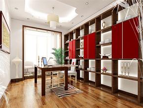 日式现代12平米书房装修