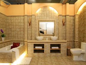 日式时尚家庭浴室装修效果图