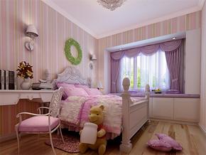 日式温馨女儿童房装修效果图