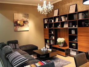 日式复古小型客厅装修效果图