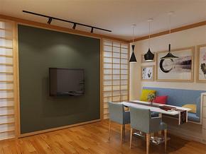 日式简约墙面餐厅装修图片
