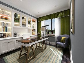 现代温馨简约书房家居装修设计