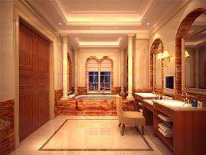 中式复古温馨卫浴室装修风格