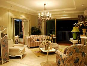 乡村两室两厅客厅灯饰装修效果图