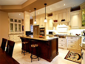 雅致中式厨房装修样板房效果图