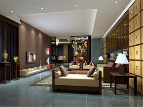 新古典风格特色温馨客厅装修实景图