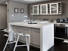 白色纯净时尚餐厅家具装修案例