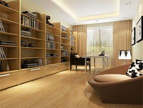 现代小型特色书房装修设计案例